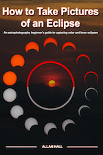 How to take pictures of an eclipse, one of my astrophotography books