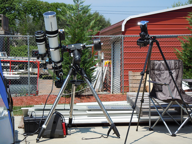 Setting up telescopes for the solar eclipse