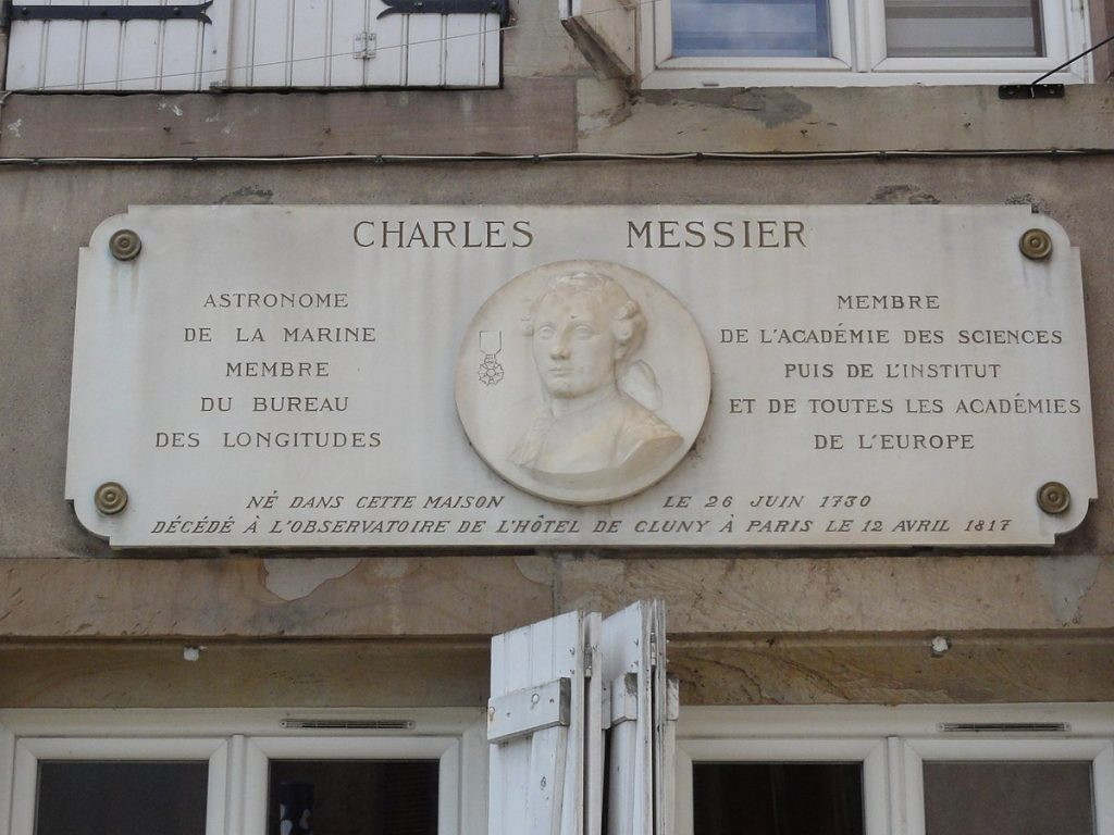 Sign honoring Charles Messier