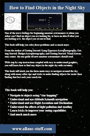 How to Find Objects in the Night Sky - Back Cover